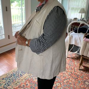 Coldwater Creek Jackets & Coats - Coldwater Creek Great Lengths linen vest NWOT